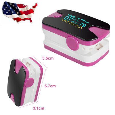 Oled Fingertip Oximeter Spo2 Pr Pi Respiration Rate Monitor Audio Alarm Us Stock