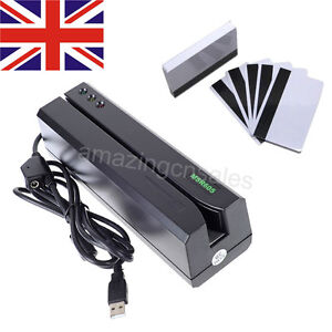 MSR605 Magnetic Stripe Card Reader Writer Encoder Swipe Magstripe Credit MSR206