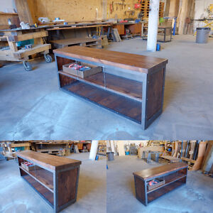 Industrial Media Console/Credenza Steel and Wood Kitchener / Waterloo Kitchener Area image 3