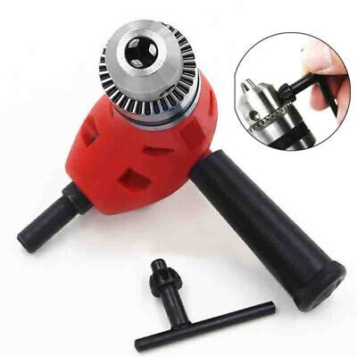 Electric Right Angle Drill Extension Attachment Chuck Adapter 38 90 Degree Red