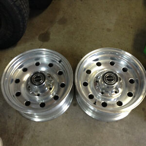 Ford  truck Rims. ( polished aluminum )