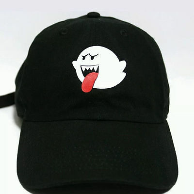 (Fashion Men Women Bryson Tiller Boo Ghost Strapback Baseball Caps Dad Cap Hat)