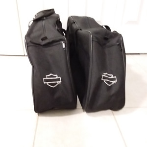Harley Davidson luggage for side bags.