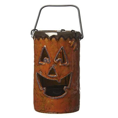 Keramik Kürbis Halloween Teelicht Laterne – Dekoration Halter Kerze Party