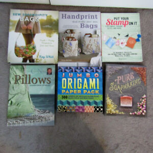 Craft Books - Sewing, Soap Making, Bags, Pillows, Stamps, Origam