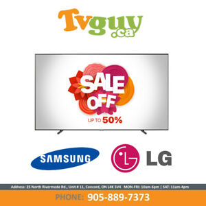 "Samsung | LG 42""-75"" Inch TVs on SALE! Up to 50% Off!"