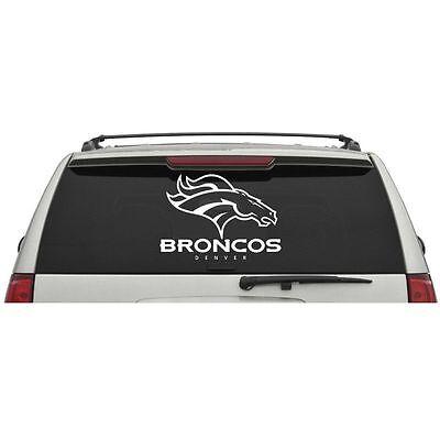 - Denver Broncos Logo Name Wordmark Window Wall Glass Door Car Truck Vinyl Sticker