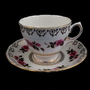Colclough Bone China Tea Cup - #8245 Pink Roses