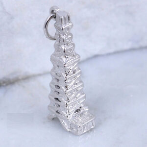 Sterling Silver - Headframe Old Mining Tower Charm Pendant
