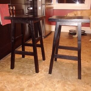 Black Wood Stools