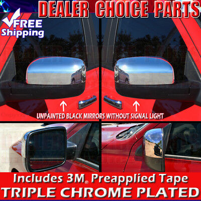 For 2009-2018 Dodge Ram 1500 Chrome Mirror Covers *Unpainted* No Turn Signal