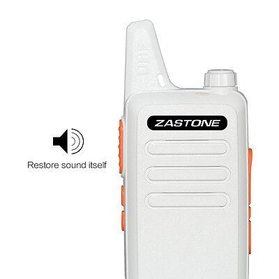 Zastone ZT-X6  Walkie Talkie UHF 400-470MHz Mini Handheld 2 Way Ham Radio White for sale  Canada