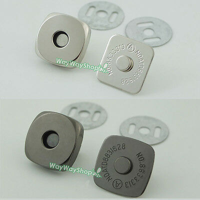 Square Magnetic Snaps (Magnetic snaps purse Square 18mm 3/4