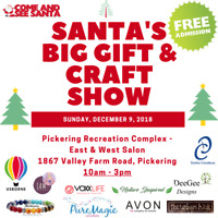 Santa's Big Gift & Craft Show- Pickering Rec Complex- Dec 9