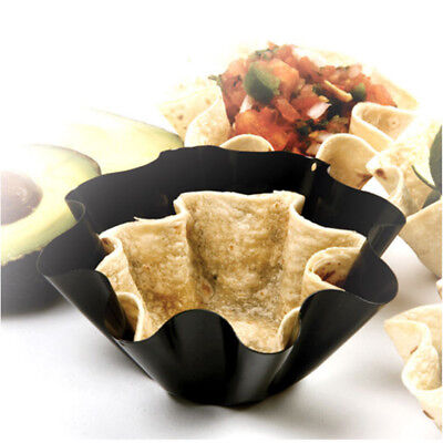 6'' Tortilla Pan Set Baking Perfect Nonstick Bowl Taco Salad Shell Baker Molds (Tortilla Shell Molds)