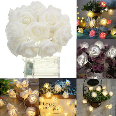 20 LED Rose Flower Garland String Light Fairy Wedding Party Christmas Decoration](Flower Led)