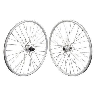 "WTB SX17 Rims 26"" Silver Mountain Bike MTB Wheelset 6B 32h Clincher Shimano/SRAM"