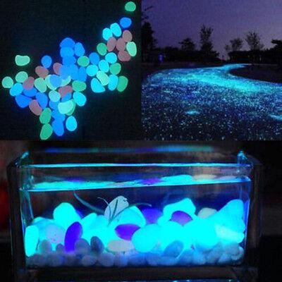 10*Glow In The Dark Aquarium Landscape Stone for Fish Tank Aquarium Decor New (Glow Decorations)