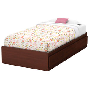 Summer Breeze Kids Bed with 3 drawers- Twin - Royal Cherry New