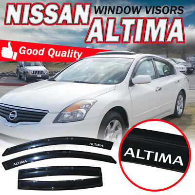 Fits 07-12 Nissan Altima Sedan Window Deflectors Visors Vent Sun Rain Guard