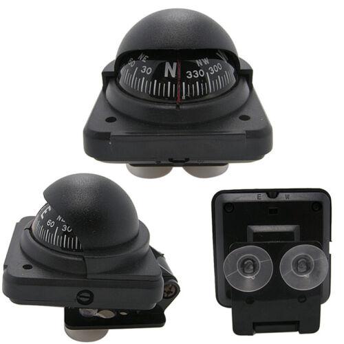 Black Auto Car Electronic Compass Navigation Dashboard Mount Marine Boat Ship PY