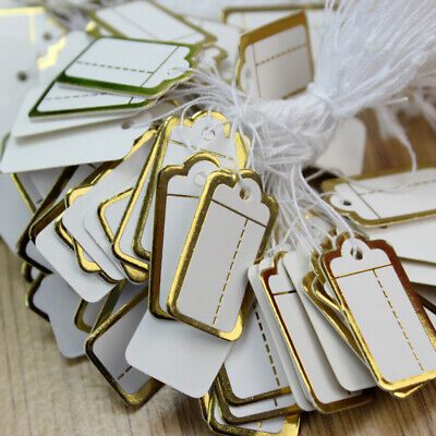 500pcs Labels Tie String Strung Price Tickets Jewelry Watch Cloth Display Tags