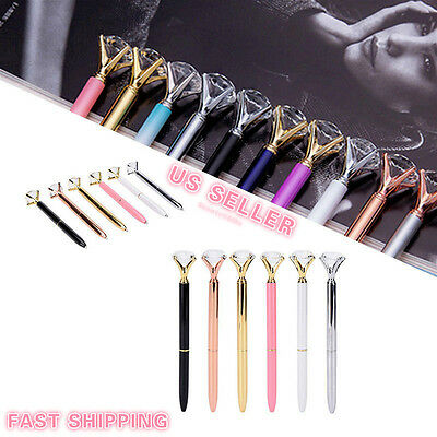 Crystal Ballpoint Pen Roller Ball Carat Large Diamond Top Wedding Office Gifts