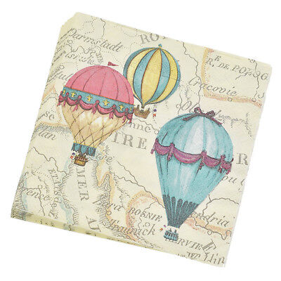20 Pcs Fire Balloon Printed Table Napkin Dining Tableware Party Wedding Supplies (Fire Party Supplies)