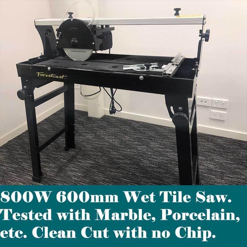 800w 600mm Wet Tile Saw Tile Cutter Saw Rail Bridge Cutter
