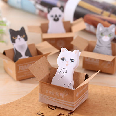 3d Bookmarks Wholesale (6pcs Portable Lovely 3D Cat Sticker Bookmark Sticky Note Point Marker Memo)