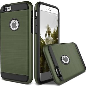 TOUGH ARMY GREEN HYBRID BRUSHED HEAVY DUTY CASE FOR IPHONE 6, 6S