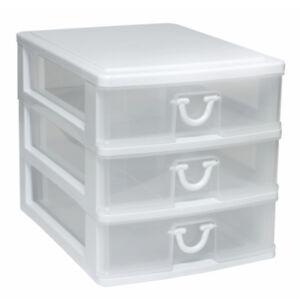Gracious Living  3-Drawer Storage Organizer  (white)