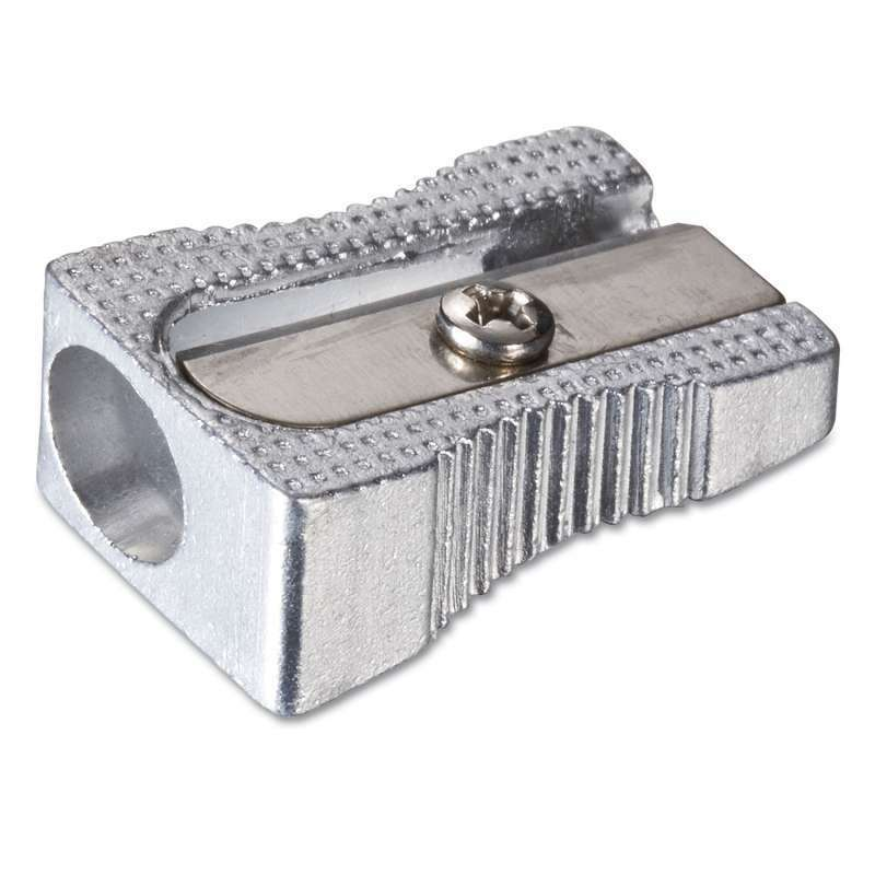 Officemate Metal Pencil Sharpener, Metallic Silver 042491302331