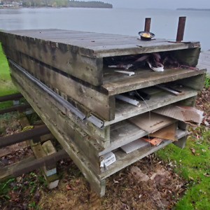 WOODEN BOAT DOCK FOR SALE - WITH METAL LEGS