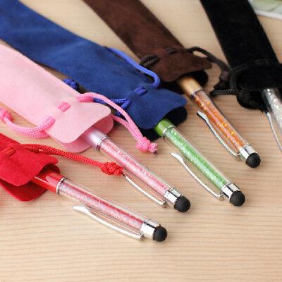 5pcs Velvet Pen Pouch Holder Single Pencil Bag Portable Pen Cases Storage