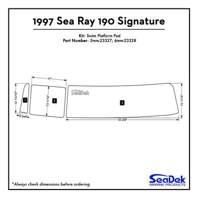 1997 Sea Ray 190 Signature - SeaDek Swim Platform Traction Pads - Custom Colors