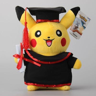 Doctor Graduation Pokemon Pikachu Plush Cute Toys 12