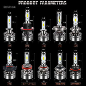 lumieres headlamps phare led 9005,9006,h1,h11,h7,h13
