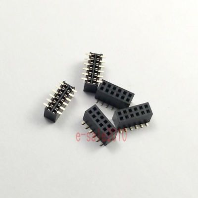 10pcs 1.27mm Pitch 2x6 Pin 12 Pin Female Double Row Smt Smd Pin Header Strip Pcb