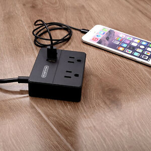 Travel charger! Two outlets and three USB. Great for hotels!