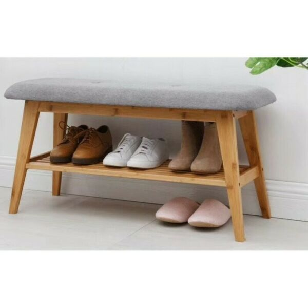 SR005 Shoe Rack Bench w Cushion, SR