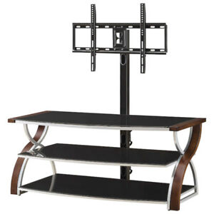 MODERN TV STAND. METAL AND GLASS
