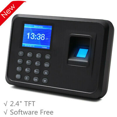 F01 Biometric Fingerprint Time Clock Employee 2.4 Software-free Multi-language