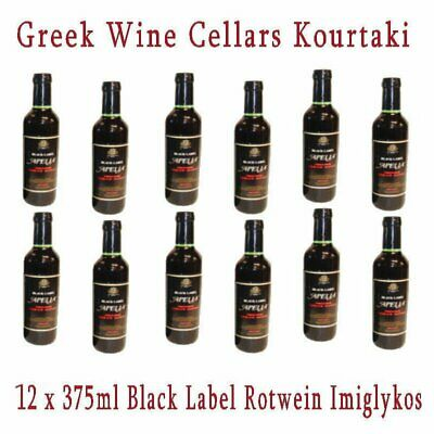 Apelia Black Label Imiglykos 12x 375ml GWC Kourtaki Rotwein halbsüß