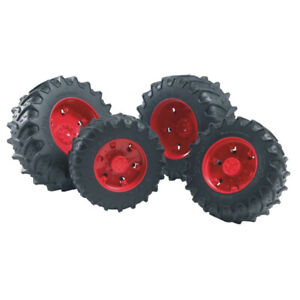Bruder Twin Tires with Red Rims