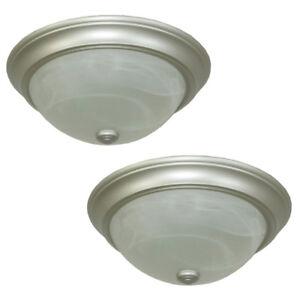 4+1 identical flash-mount ceiling lights