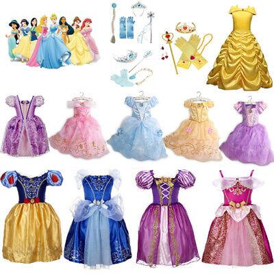 Mädchen Kinder Prinzessin Kleid Cosplay Kostüm Belle Aurora - Prinzessin Belle Kleid