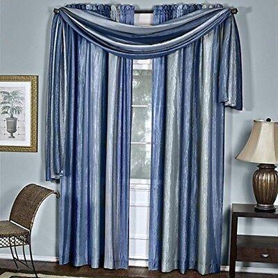 Achim Ombre Scarf 50 x 144 - Blue OMSF144BL6 Window Curtain