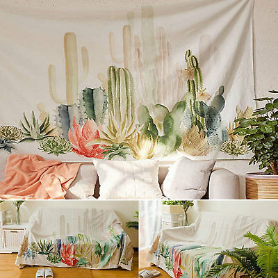 Hippie Tapestry Wall Hanging Tapestry Desert Cactus Print Tapestry Room Home Dec