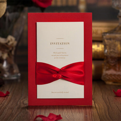 50 Wedding invitation cards with envelopes, seals, ...